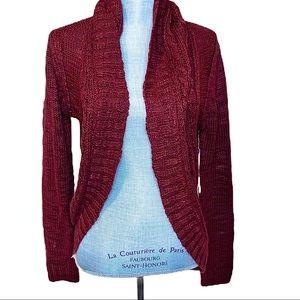 NWT RD Style Burgundy Cardigan Long Cozy Sweater
